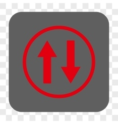 Vertical flip arrows rounded square button vector