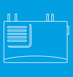 Wall router icon outline style vector