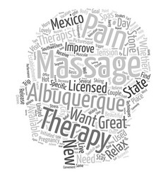 Get a massage in albuquerque text background vector