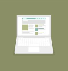 Website on laptop vector