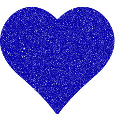 love heart icon grunge watermark vector image