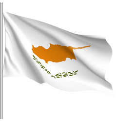 Waving flag of republic of cyprus vector