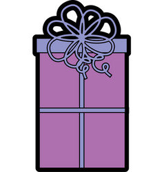 cute christmas gift cartoon vector image