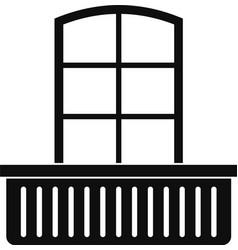 Door with balcony icon simple style vector