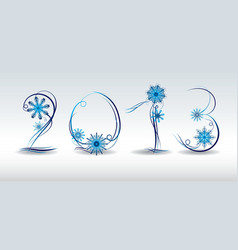 2013 the cover of a greeting card vector image vector image