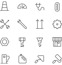 Thin line icons for industrial vector