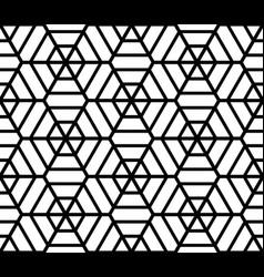 Hexagons latticed texture vector image