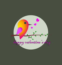 Sparrow congratulations to the st valentines day vector