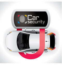 Car lock security vector