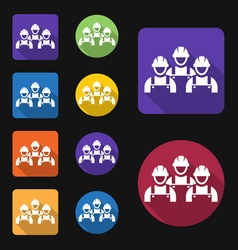 Work crew icon vector