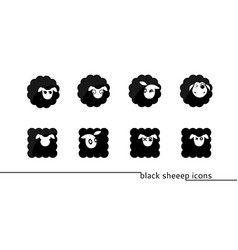 Sheep icons vector