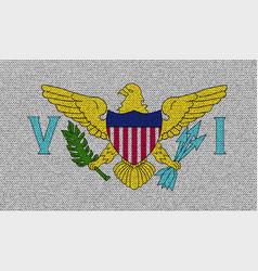 Flags virginislandsus on denim texture vector