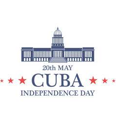 Independence day cuba vector