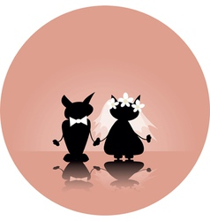 Cat wedding vector