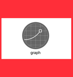 Graph contour outline icon vector