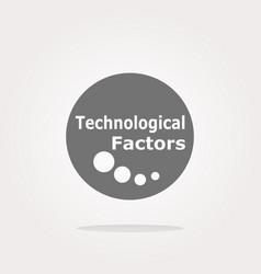 Technological factors web button icon vector