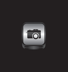 Metal plate camera photography theme icon button vector
