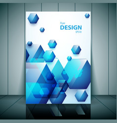Professional business flyer vector image