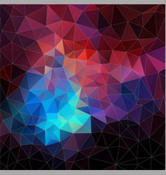 Abstract mosaic triangle geometric vector image vector image
