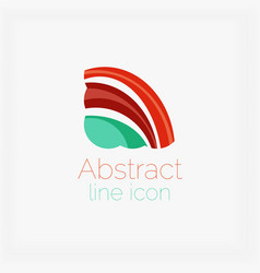 Abstract symmetric geometric shapes business icon vector image