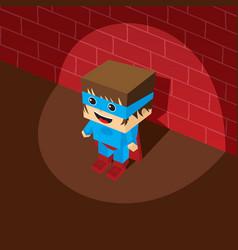 Amazing superhero isometric theme vector
