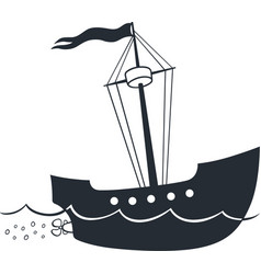 Cartoon ship vector image vector image