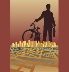 city biker vector image vector image