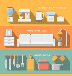 Cooking tools and kitchenware equipment serve vector image