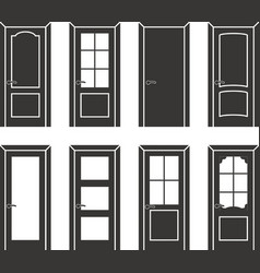 Different design door set vector image vector image