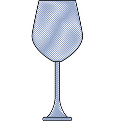 Empty wine glass beverage drink utensil vector