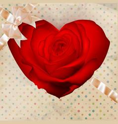 Flower heart EPS 10 vector image