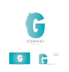 g blue letter alphabet logo icon design vector image