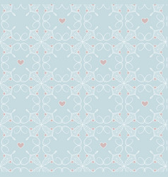 hearts and lines simple pattern vector image vector image