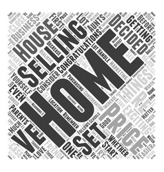 Home Selling Prices Word Cloud Concept vector image vector image