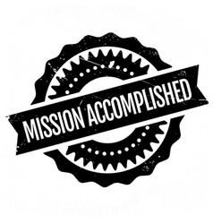Mission accomplished stamp vector image