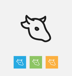 Of animal symbol on cattle vector