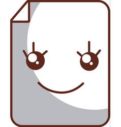 paper document kawaii character vector image