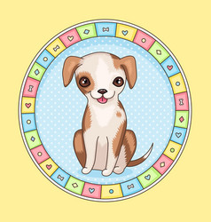 Puppy frame vector