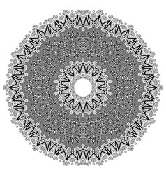 Round geometric ornament isolated vector