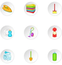 Sanitary day icons set cartoon style vector