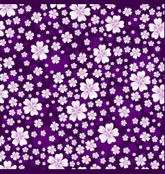 Seamless floral pattern with white colored flowers vector