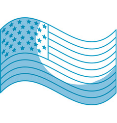 silhouette usa flag to celebrate holiday patriotic vector image