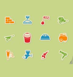 Symbols of building equipment vector