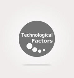 technological factors web button icon vector image