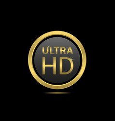 Ultra hd icon vector