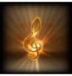 treble clef with blurred background vector image