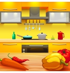 Kitchen table vector