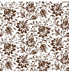 Textile floral background vector