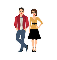 young handsome couple vector image