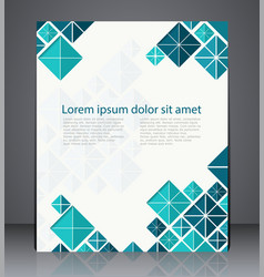 Layout brochure flyer design template web or vector